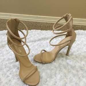 Brand new Public Desire Tan heels Size 7